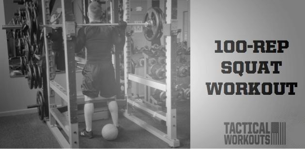 100-Rep Squat Workout